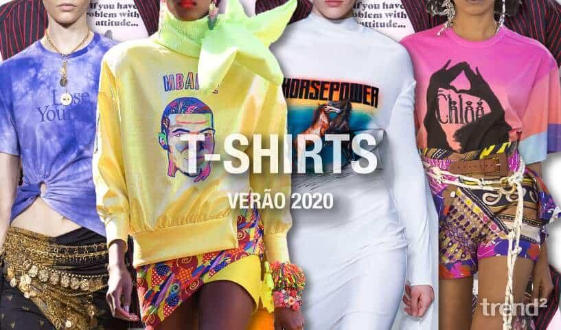 Tendências T-shirts Verão 2020